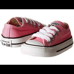 EUC Pink Converse All Star Chuck Taylor Toddler 5